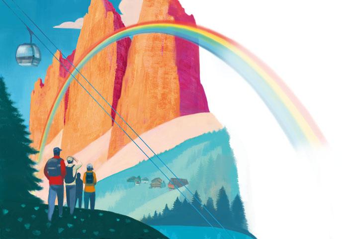 Illustrazione di Paolo d'Altan per la rivista 'M' Sudtirol Magazine