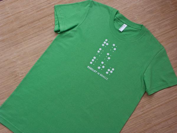 Tshirt Rebelot Braille