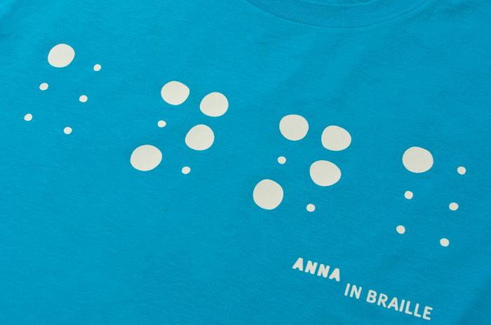Anna in Braille by Rebelot